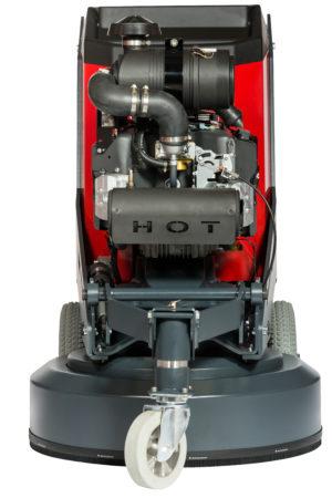 Framsidan på SC 28 propan, där man ser kawasaki motorn